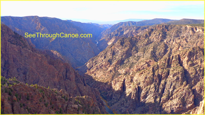 picture taken from the south rim of the Black Canyon