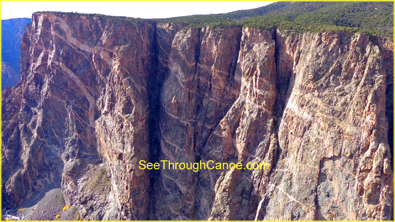 picture of the Painted Wall in the Black Canyon