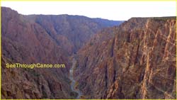 Black Canyon Showing the Arkansas River running through it