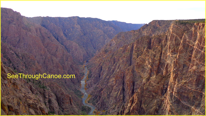 picture of the Black Canyon showing the Arkansas river going through it