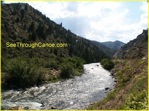 picture of clear creek where it runs through Idaho Springs