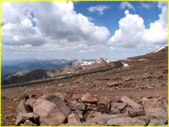 picture looking west from mount evans