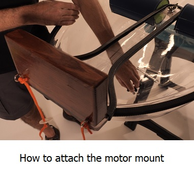 how to put the motor mount on the canoe