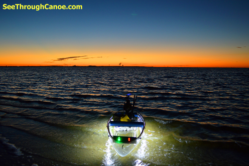 Waterproof LED lights for the See Through Canoe