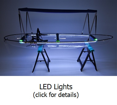 clear canoe with led lights