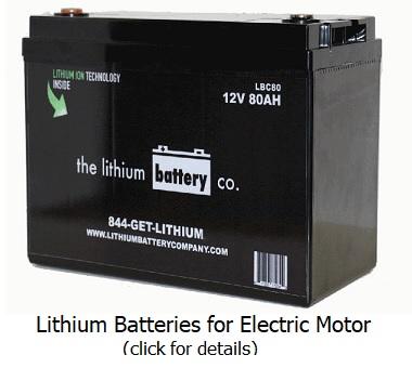 battery for canoeing motor
