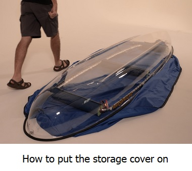 how to put the storage cover on the clear canoe