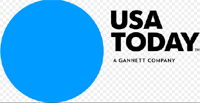 USA Today story about a baby dolphin playfully splashing the transparent canoe