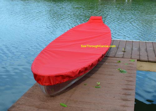 Clear canoe cover