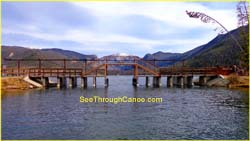 Picture of bridge seperating Grand Lake from Shadow Mountain Reservoir